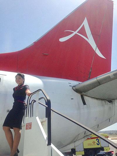 azafata avion